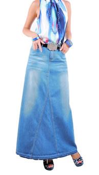 Джинсовые юбки в пол фото